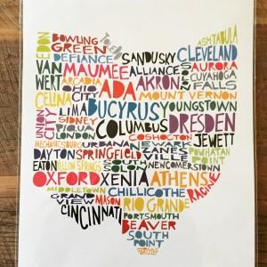 Celebrate Local - Ohio Print