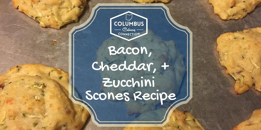 Bacon, Cheddar, + Zucchinni Scones