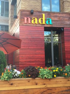 The entrance to nada arena district