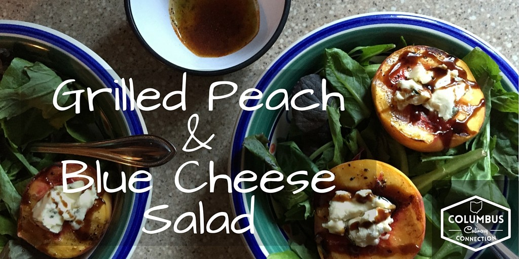 Grilled Peach + Blue Cheese Salad