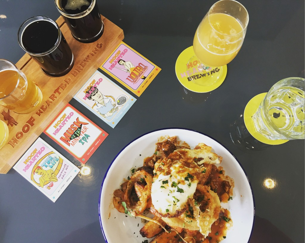 Poutine and Hoof Hearted Beers