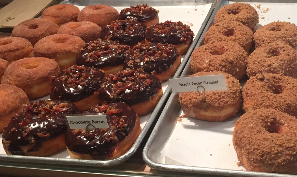 Chocolate Bacon Donut at Destination Donuts