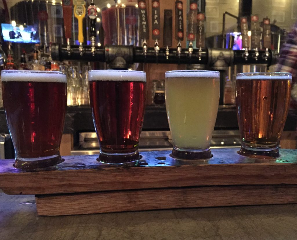Beer Flight from Temperance Row Brewing
