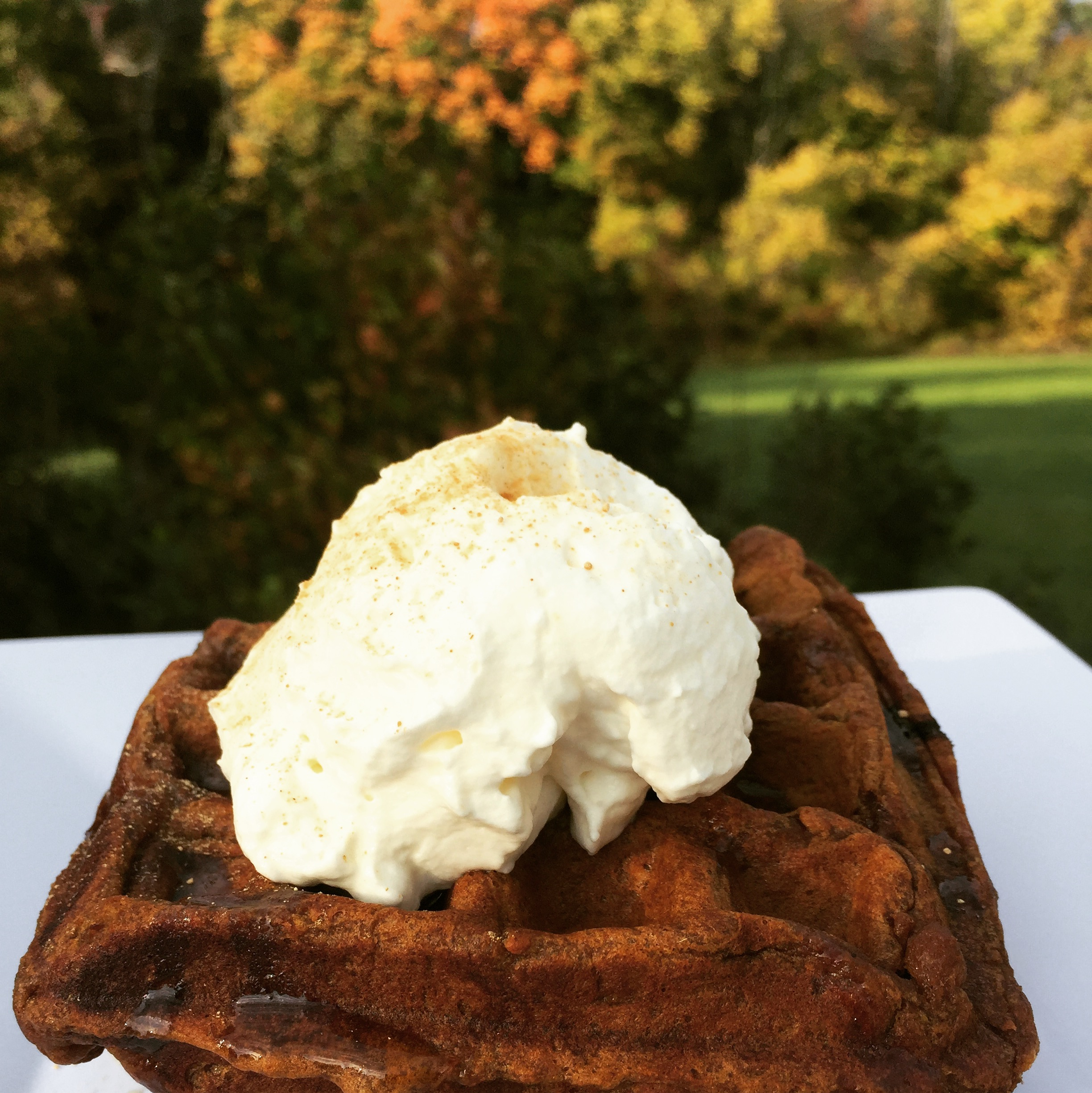 Basic Fall Staple Pumpkin Spice Latte Waffles